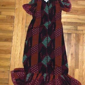 DVF Ethnic print maxi dress